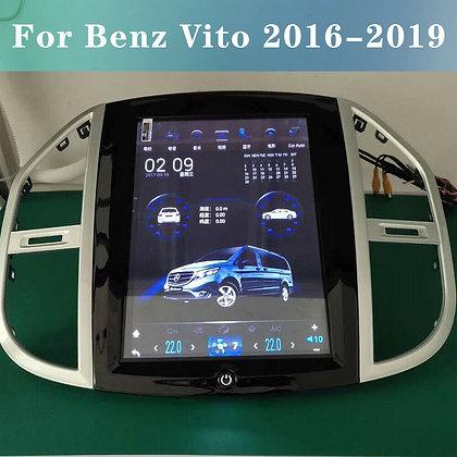 Android 9.0 Tesla Style Car GPS Radio 4+64GB Carplay For Benz Vito 2016-2019