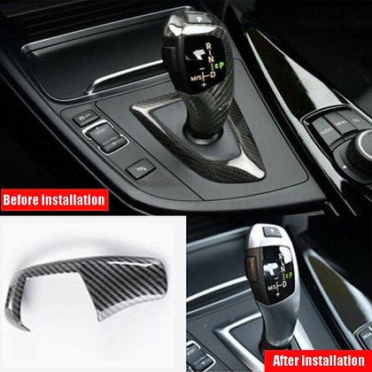 1×Real Carbon Fiber Handle Gear Shift Knob Trim Cover For BMW X1 X3 X4 X5 X6
