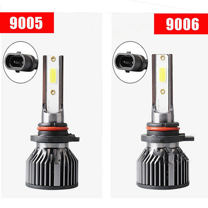 1pcs Universal Combo LED Headlight High Low Beam Bulbs Kit COB 9006 6000LM US