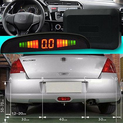 LED Display Car 4 Parking Sensor Reverse Backup Radar Alarm System Kit US