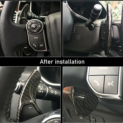 Carbon Fiber Shift Paddle Steering Wheel Extension For Land Rover And Jaguar