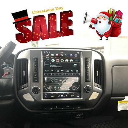 4+64GB Vertical Screen Car GPS Radio For Chevy Silverado GMC Sierra 2014-2019