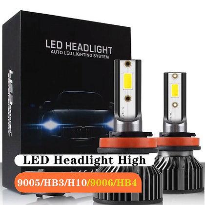 1pcs Universal Combo LED Headlight High Low Beam Bulbs Kit COB 9006 6000LM