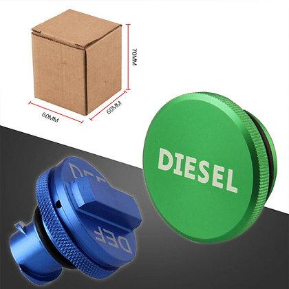 2PCS For Dodge Ram 2500 3500 2013-2018 Diesel Fuel Tank Caps DEF Cap Aluminum