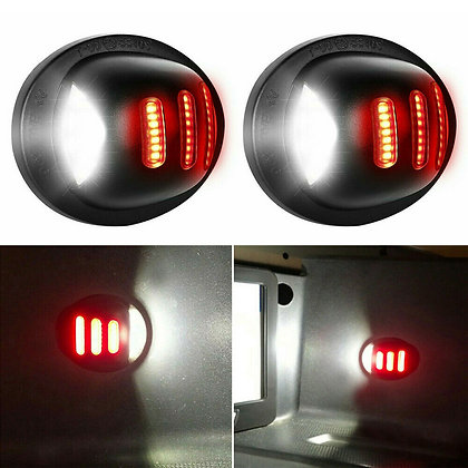 1PCS Ford F150 F250 F350 1983-2016 RED SMD Tube LED License Plate Light Tag Lamp