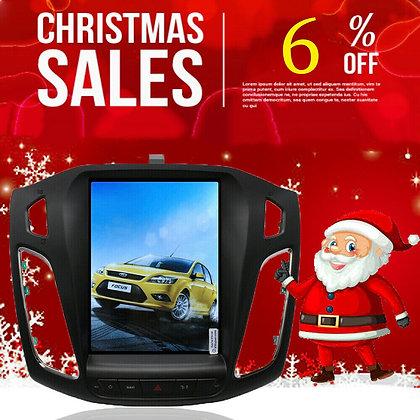 "10.4"" Tesla Style Vertical Screen Car GPS Radio Dash HD For Ford Focus 2012-2018"