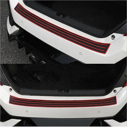 Red/black Door Sill Guard Car Body Bumper Protector Trim Cover Protective Strip