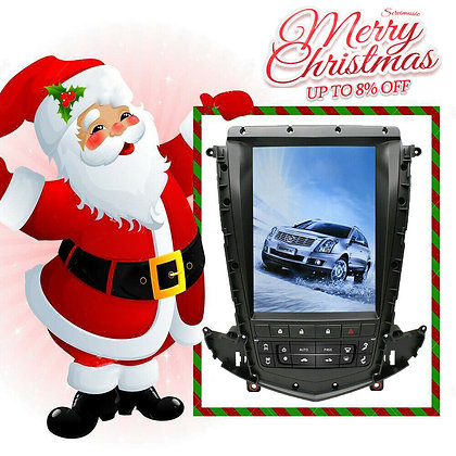 PX6 4+32GB Android 8.1 Vertical Screen Car GPS Radios For Cadillac SRX 2009-2012