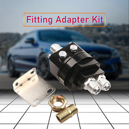 1 Set Fuel Oil Filter Relocation Male Sandwich Fitting Adapter Kit Universal