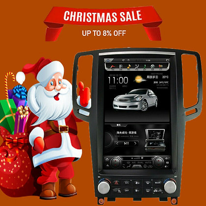 4+32GB Android 8.1 Vertical Screen Car GPS Radio For Infiniti G35 G37 2007-2015