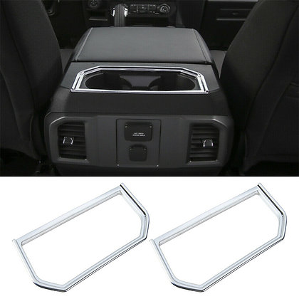 1×Armrest Rear Box Water Cup Holder Cover Panel Trim For Ford F-150 Accessories