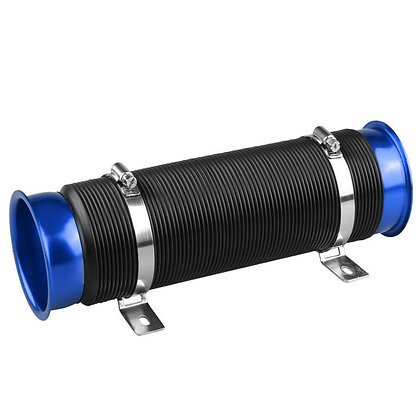 "3"" Flexible Adjustable Short Ram/Cold Car Air Intake Turbo Tube Pipe Hose Blue"