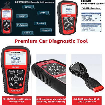 New MS509 KW808 OBD2 OBDII EOBD Scanner Car Code Reader Tester Diagnostic US