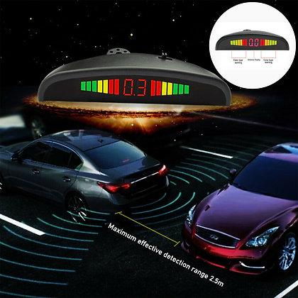 LED Display Car 4 Parking Sensor Reverse Backup Radar Alarm System Kit White