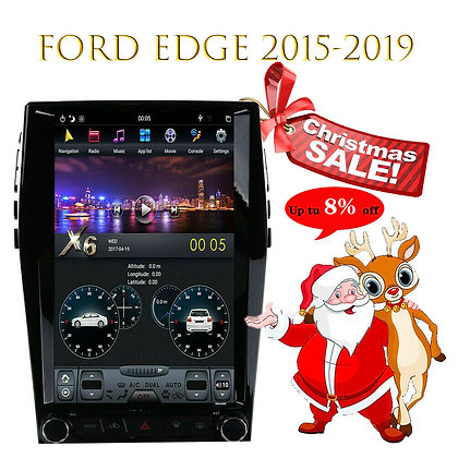 """13.6"""" Android 8.1 Tesla Vertical Screen GPS Radio 4+32GB For Ford Edge 2015-2019"""