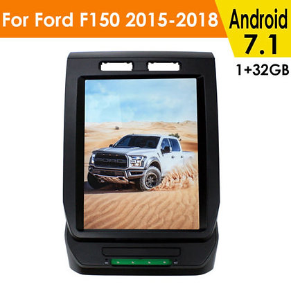 "12.1"" Tesla Style GPS Navigation 1+32GB HD Radio For Ford F-150 Raptor 2015-2018"