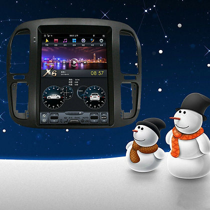 """12.1""""Android 9.0 Vertical Screen Car GPS Radio For Toyota Land Cruiser 1999-20"""