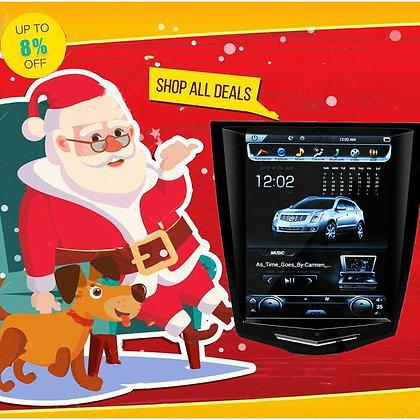 32GB Android 8.1 Radio Tesla Vertical Screen Car GPS For Cadillac ATS 2013-2018