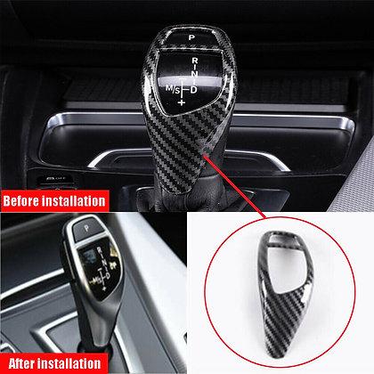 1Pcs Carbon Fiber Gear Shift Knob Cover Trim For BMW X3 X4 X5 X6 F20 F22 F30 F32