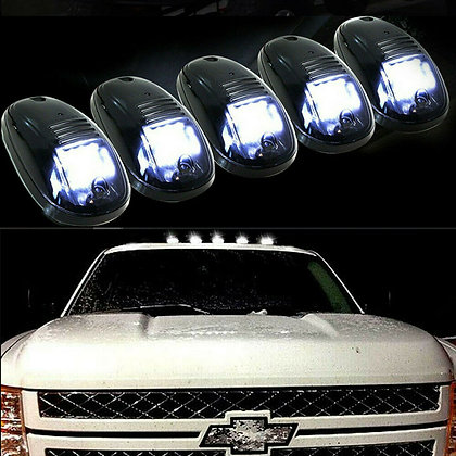 5x 16LED Smoked Cab Roof Top Marker Running Clearance White Light For Dodge Ram