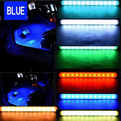 RGB Car Interior Lights Wireless APP Music Control LED Strip Lights Multi-Color