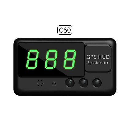 Digital Auto Car GPS HUD Display Speedometer For Truck Bus Energy Vehicle