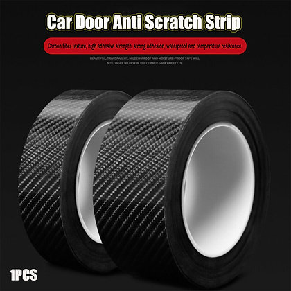 Carbon Fiber Sticker Protector Sill Scuff Cover Car Door Body Anti Scratch Stri