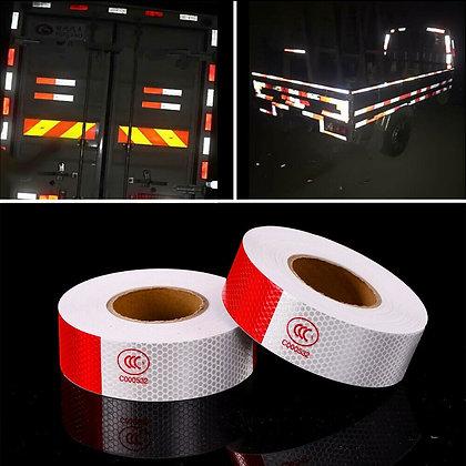 1pcs PVC Vehicle Trailer Reflective Warning Safety Tape Fim Sticker Roll Strip