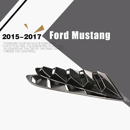 2pcs For Ford Mustang 2015-2017 1/4 Quarter Window Louver Scoop Side Cover Vent