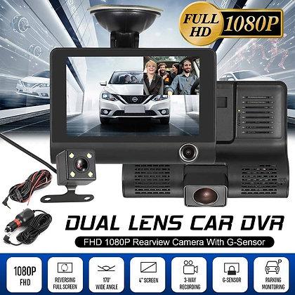 170° 4'' HD 1080P 3 Lens Car DVR Dash Cam Vehicle Video Recorder Rearview Camera