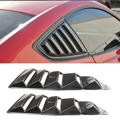 2× Style Side Window Scoop Louvers ABS plastic Fits Ford Mustang 2015-2017 Black