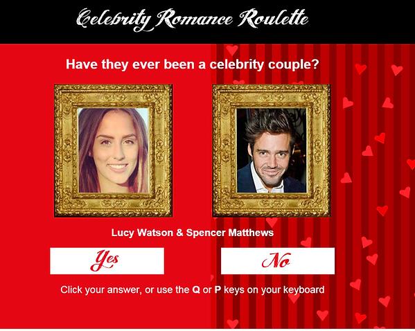 Celebrity Romance Roulette