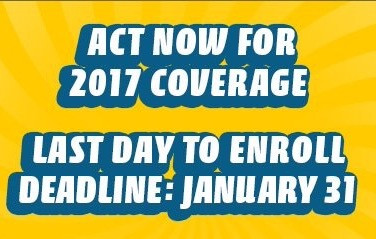 Last Day To Enroll For Health Coverage is Jan 31st. #GetCovered