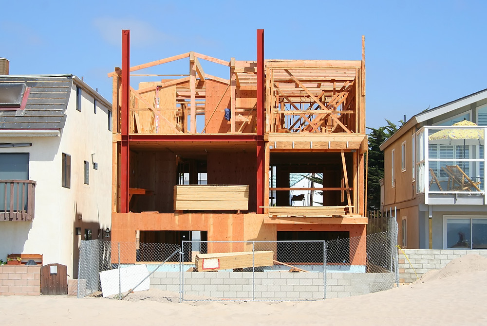 Florida Beach Home Under Construction - Insure with Frontline Builders Risk Insurance