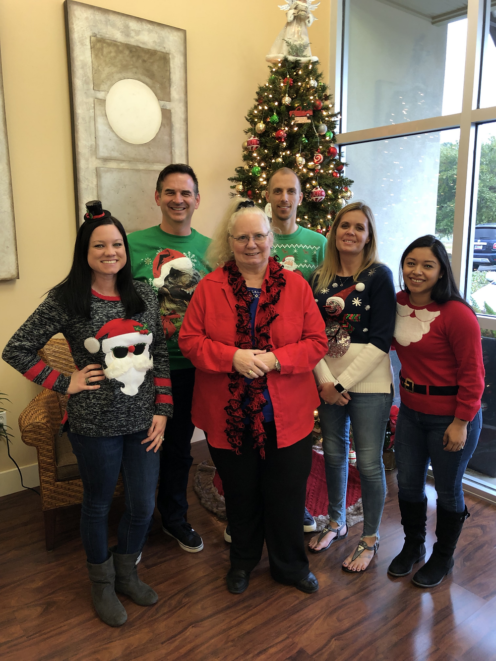 Fuller Insurance Tacky Christmas Sweater Gang