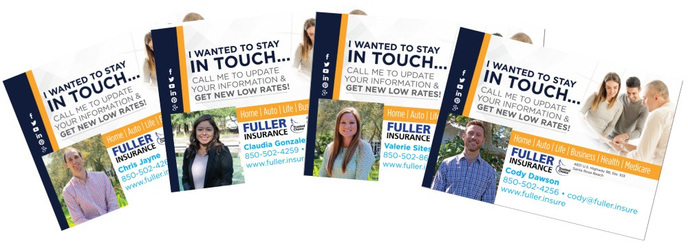 Fuller Insurance Client Postcards
