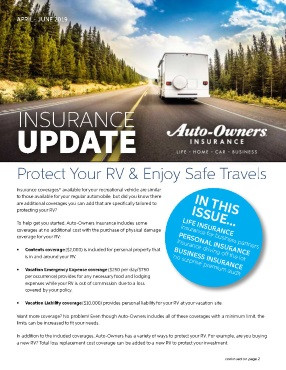 Auto-Owners Spring 2019 Newsletter Update