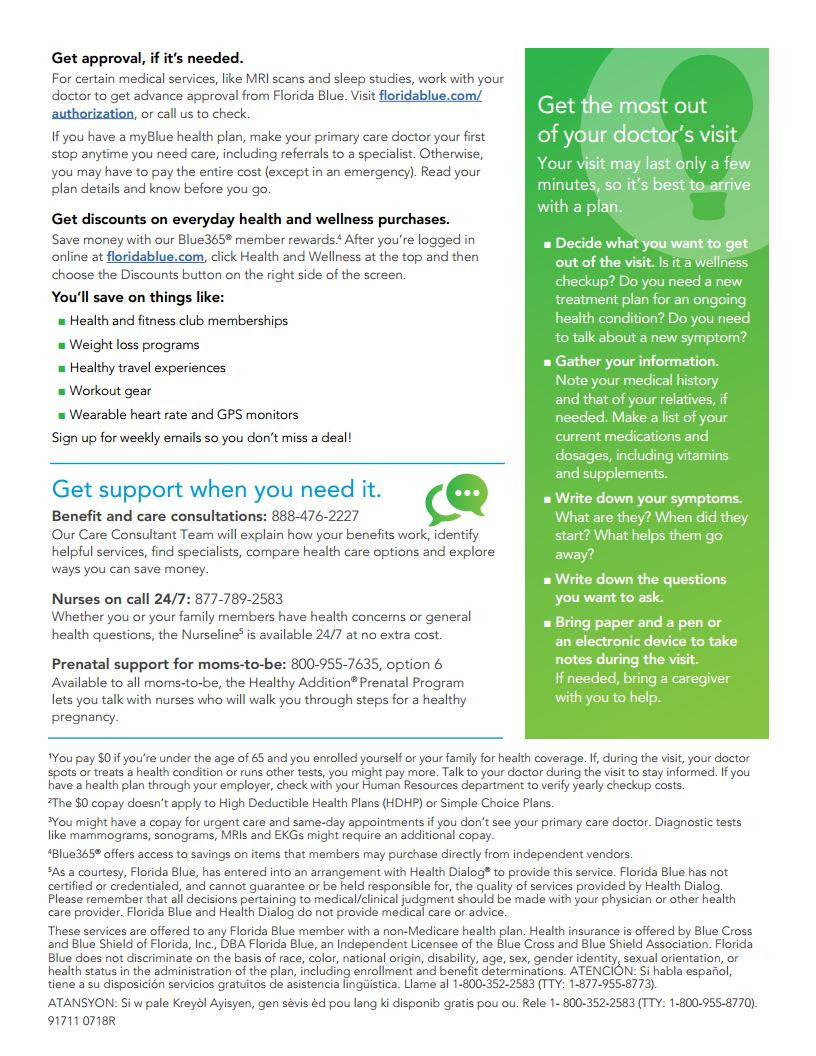 How To Save Money on Health Care Costs with Florida Blue - Page 2