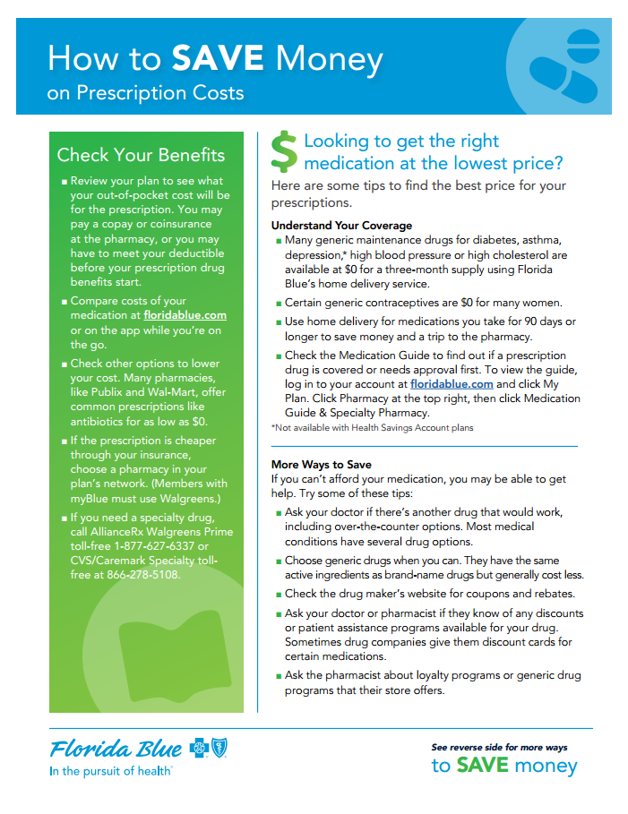 How To Save Money on Prescription Costs - page 1