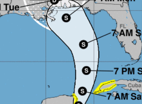 Subtropical Storm Alberto Forms