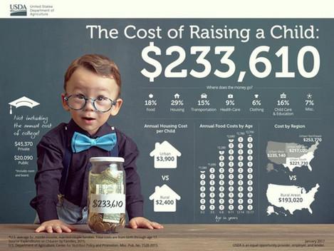 Raising AChild Costs $233,610