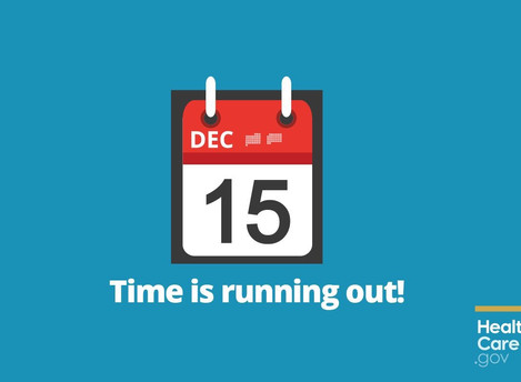 Dec 15th Deadline For Jan 1st Health Coverage