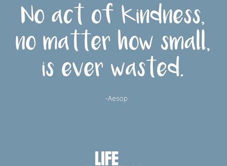 Let's Be Kind #LifeHappens