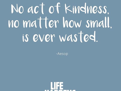 Let's Be Kind #LifeHappens