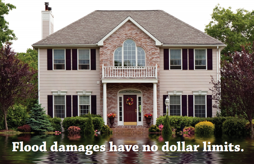Flood Damages Have No Dollar Limits - Get Excess Flood Insurance