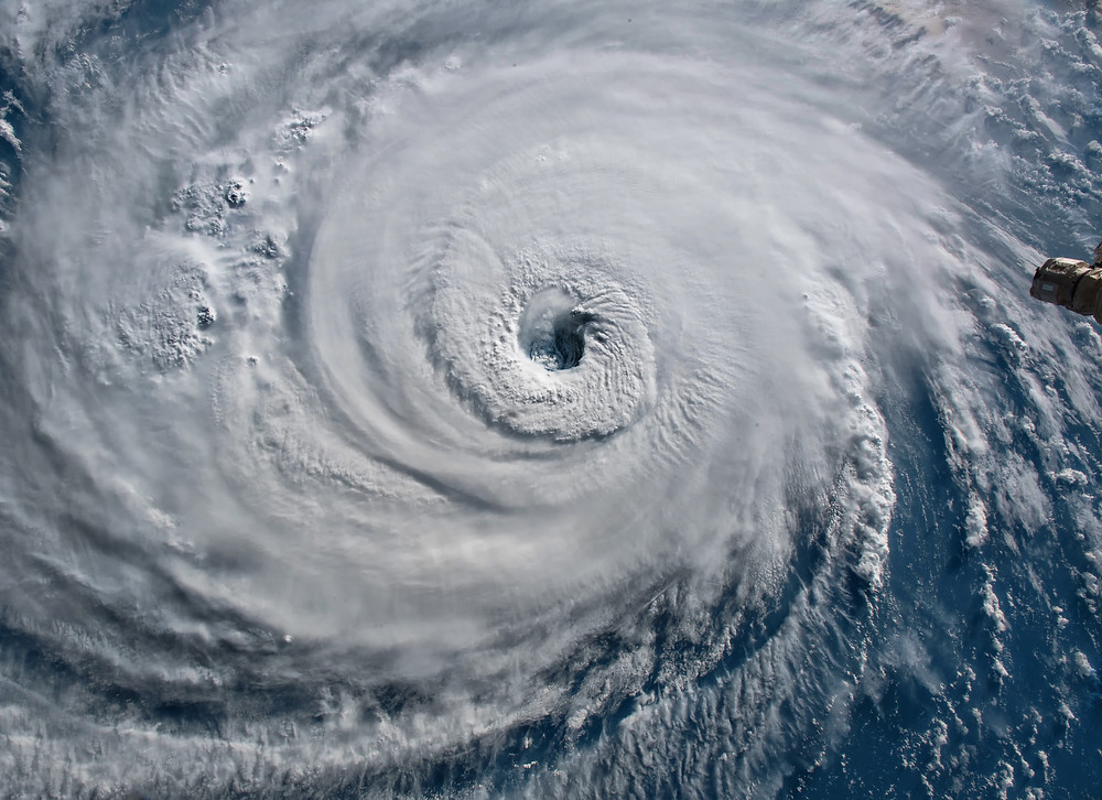 A picture of a hurricane