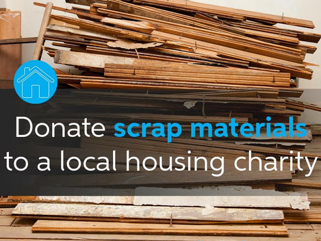Donate Scrap Building Materials #Habitat