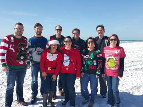 Fuller Insurance Team Celebrating Christmas