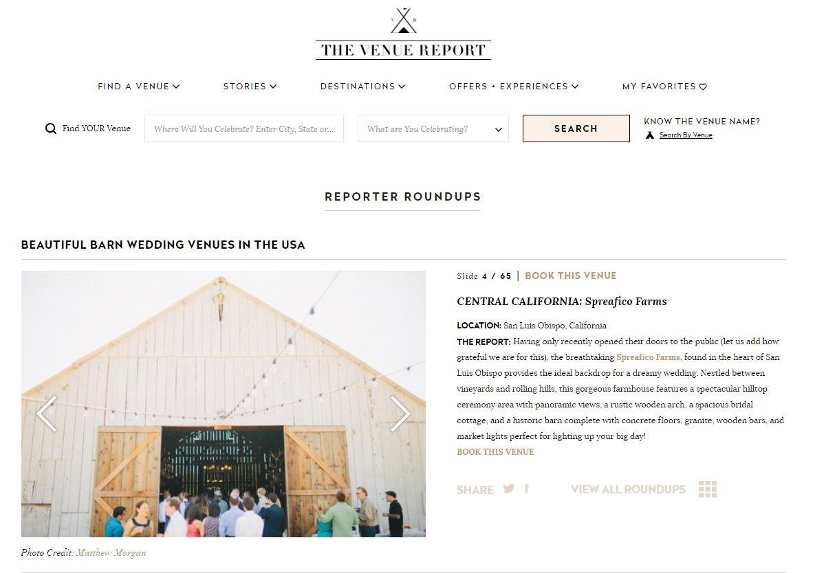 Spreafico Farms The Venue Report
