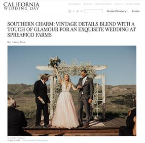 CA Wedding Day Spreafico Farms